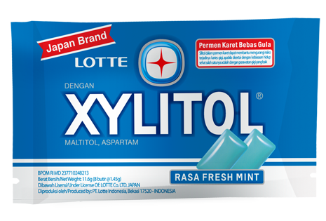 LOTTE XYLITOL rasa Fresh Mint 8 Pcs Per Pack