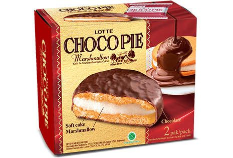 LOTTE CHOCO PIE Marshmallow 2 Pcs Per Pack
