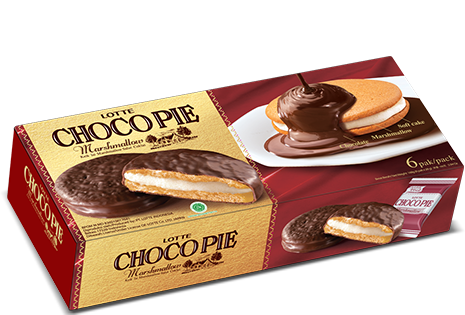 LOTTE CHOCO PIE Marshmallow 6 Pcs Per Pack