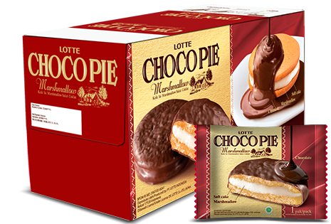 LOTTE CHOCO PIE Marshmallow 1 Pcs Per Pack
